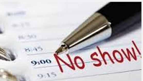 No show notation on a calendar
