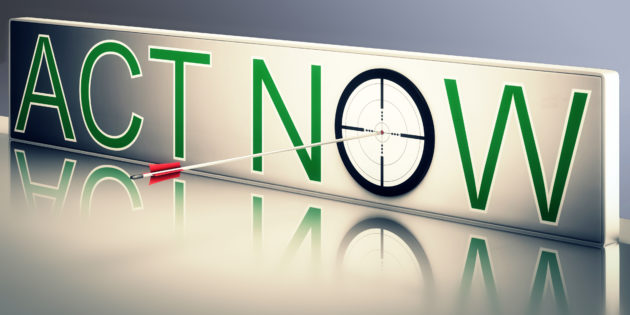 Act now sign