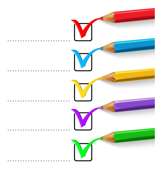 Color Pencil Checklist