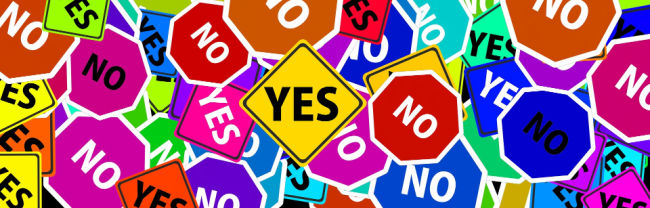 Yes or No Signs