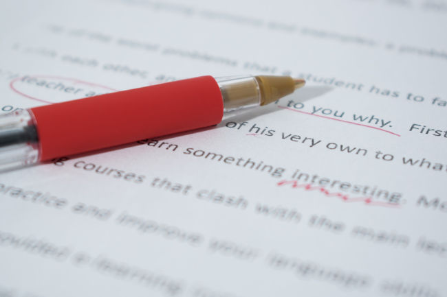 Editor Corrections Red Pen