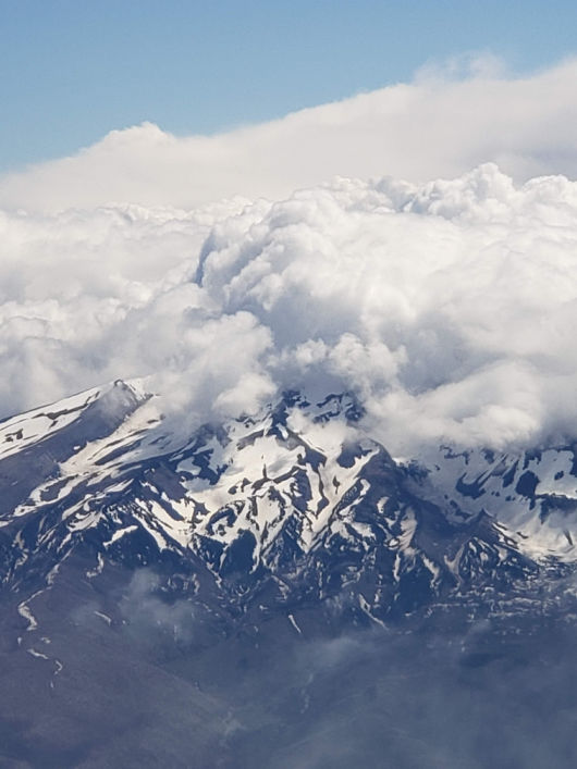 Clouded mountain by Joanne McCall